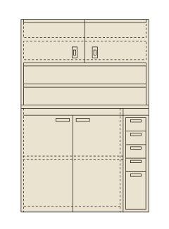 【送料無料】【メーカー取寄品(代引き決済時、要問合せ)】サカエ ピットイン(品番:PN-H24D)『250134』工具保管
