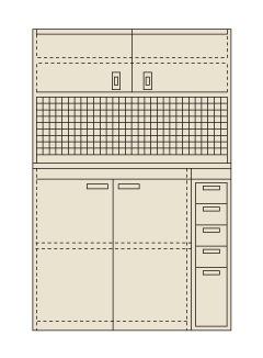 【送料無料】【メーカー取寄品(代引き決済時、要問合せ)】サカエ ピットイン(品番:PN-H24PD)『250565』工具保管
