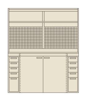 【送料無料】【メーカー取寄品(代引き決済時、要問合せ)】サカエ ピットイン(品番:PN-H83P)『250135』工具保管