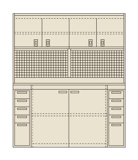 【送料無料】【メーカー取寄品(代引き決済時、要問合せ)】サカエ ピットイン(品番:PN-H84PD)『250570』工具保管