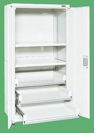 【送料無料】【メーカー取寄品(代引き決済時、要問合せ)】サカエ 保管システム(品番:PNH-9063C3W)『143490』パールホワイト・色管理
