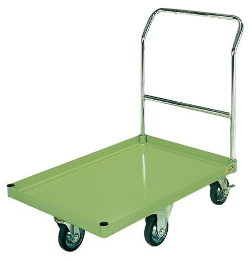 【送料無料】【メーカー取寄品(代引き決済時、要問合せ)】サカエ 特製五輪車クイックターン・パール台車(品番:PQ-G1C)『210702』荷役・運搬機器