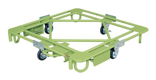 【送料無料】【メーカー取寄品(代引き決済時、要問合せ)】サカエ 自在移動回転台車 フットブレーキ付(品番:RC-4FBG)『212066』荷役・運搬機器