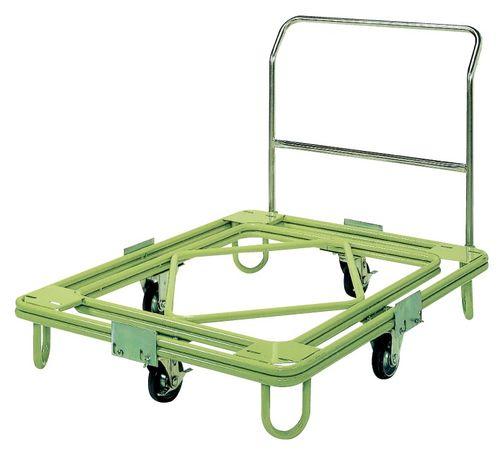 【送料無料】【メーカー取寄品(代引き決済時、要問合せ)】サカエ 自在移動回転台車 中重量型 取手付タイプ(品番:RC-4TG)『211971』荷役・運搬機器