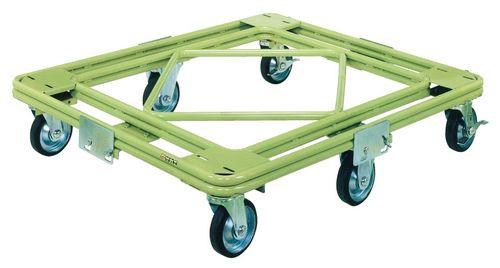 【送料無料】【メーカー取寄品(代引き決済時、要問合せ)】サカエ 自在移動回転台車 重量型 標準タイプ(品番:RH-2G)『218724』荷役・運搬機器
