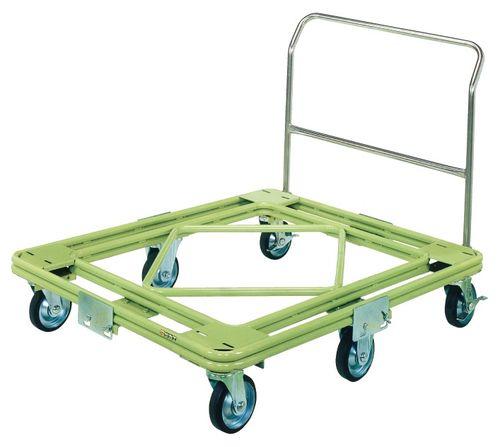 【送料無料】【メーカー取寄品(代引き決済時、要問合せ)】サカエ 自在移動回転台車 重量型 取手付タイプ(品番:RH-3TG)『218728』荷役・運搬機器