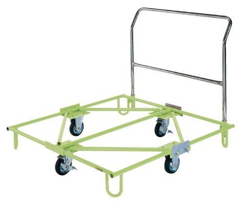 【送料無料】【メーカー取寄品(代引き決済時、要問合せ)】サカエ 樹脂パレット台車 取手付(品番:SC-110T)『218894』荷役・運搬機器