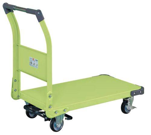 【送料無料】【メーカー取寄品(代引き決済時、要問合せ)】サカエ 特製四輪車フットブレーキ付(品番:TAN-22BR)『211221』荷役・運搬機器