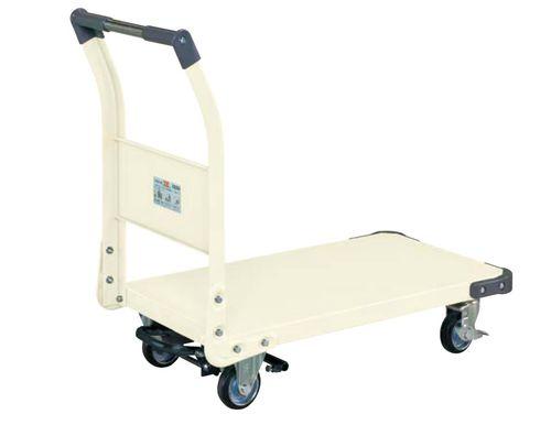 【送料無料】【メーカー取寄品(代引き決済時、要問合せ)】サカエ 特製四輪車フットブレーキ付(品番:TAN-22BRI)『211222』荷役・運搬機器