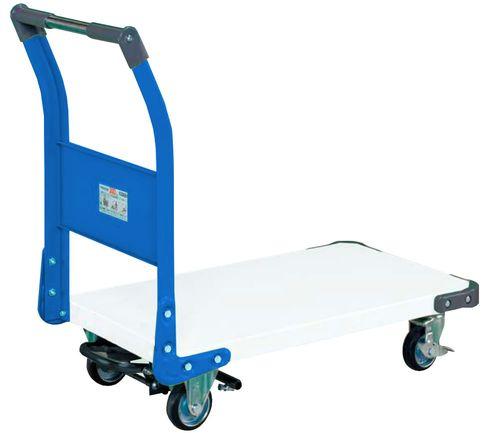 【送料無料】【メーカー取寄品(代引き決済時、要問合せ)】サカエ 特製四輪車フットブレーキ付(品番:TAN-22BRWB)『211229』パールホワイト・色管理