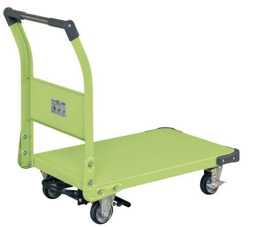 【送料無料】【メーカー取寄品(代引き決済時、要問合せ)】サカエ 特製四輪車フットブレーキ付(品番:TAN-33BR)『211224』荷役・運搬機器