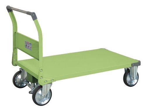 【送料無料】【メーカー取寄品(代引き決済時、要問合せ)】サカエ 特製四輪車 フロアストッパー付(品番:TAN-88F)『211254』荷役・運搬機器