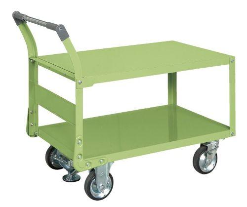 【送料無料】【メーカー取寄品(代引き決済時、要問合せ)】サカエ 特製四輪車 フロアストッパー付(品番:TAW-55F)『211292』荷役・運搬機器