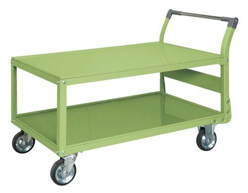 【送料無料】【メーカー取寄品(代引き決済時、要問合せ)】サカエ 特製四輪車 二段タイプ(品番:TAW-88)『211293』荷役・運搬機器