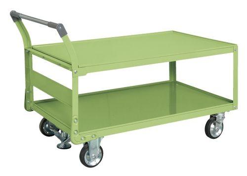 【送料無料】【メーカー取寄品(代引き決済時、要問合せ)】サカエ 特製四輪車 フロアストッパー付(品番:TAW-88F)『211294』荷役・運搬機器