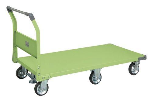 【送料無料】【メーカー取寄品(代引き決済時、要問合せ)】サカエ 特製六輪車クイックターン フロアストッパー付(品番:TQN-99F)『211272』荷役・運搬機器