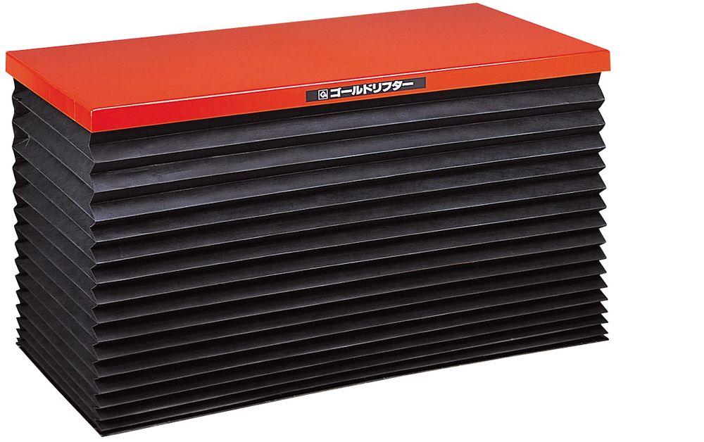 【送料無料】【納期:都度問合せ】【メーカー直送品:代引き不可】東正車輌 ゴールドリフター テーブル式油圧電動(超低床・ジャバラ)(品番:GLB-500-0610J)