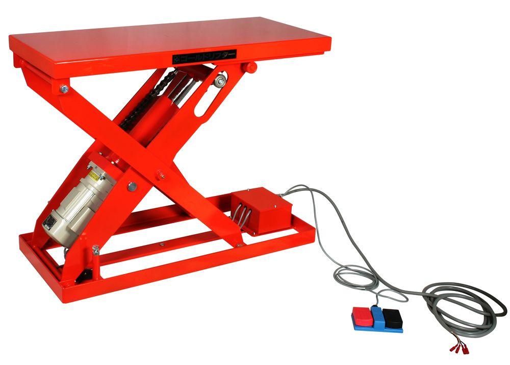 【送料無料】【納期:都度問合せ】【メーカー直送品:代引き不可】東正車輌 ゴールドリフター テーブル式メカリフト・ボールネジ電動(パワータイプ)(品番:GLI-300-0510 0.2kw 100V)