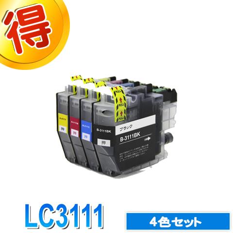 ブラザープリンターインクLC31114色セットbrother互換インクカートリッジLC3111-4PK対応プリンターDCP-J973NDCP-J972NDCP-J572NMFC-J893N純正インクよりお得