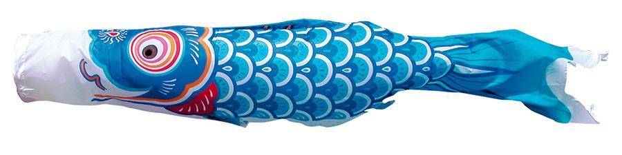 こいのぼり 3m 友禅鯉 8点 (矢車、ロープ、吹流し、鯉5匹) 庭園用 ガーデンセット (専用ポール一式) 徳永鯉のぼり KIT-115-602
