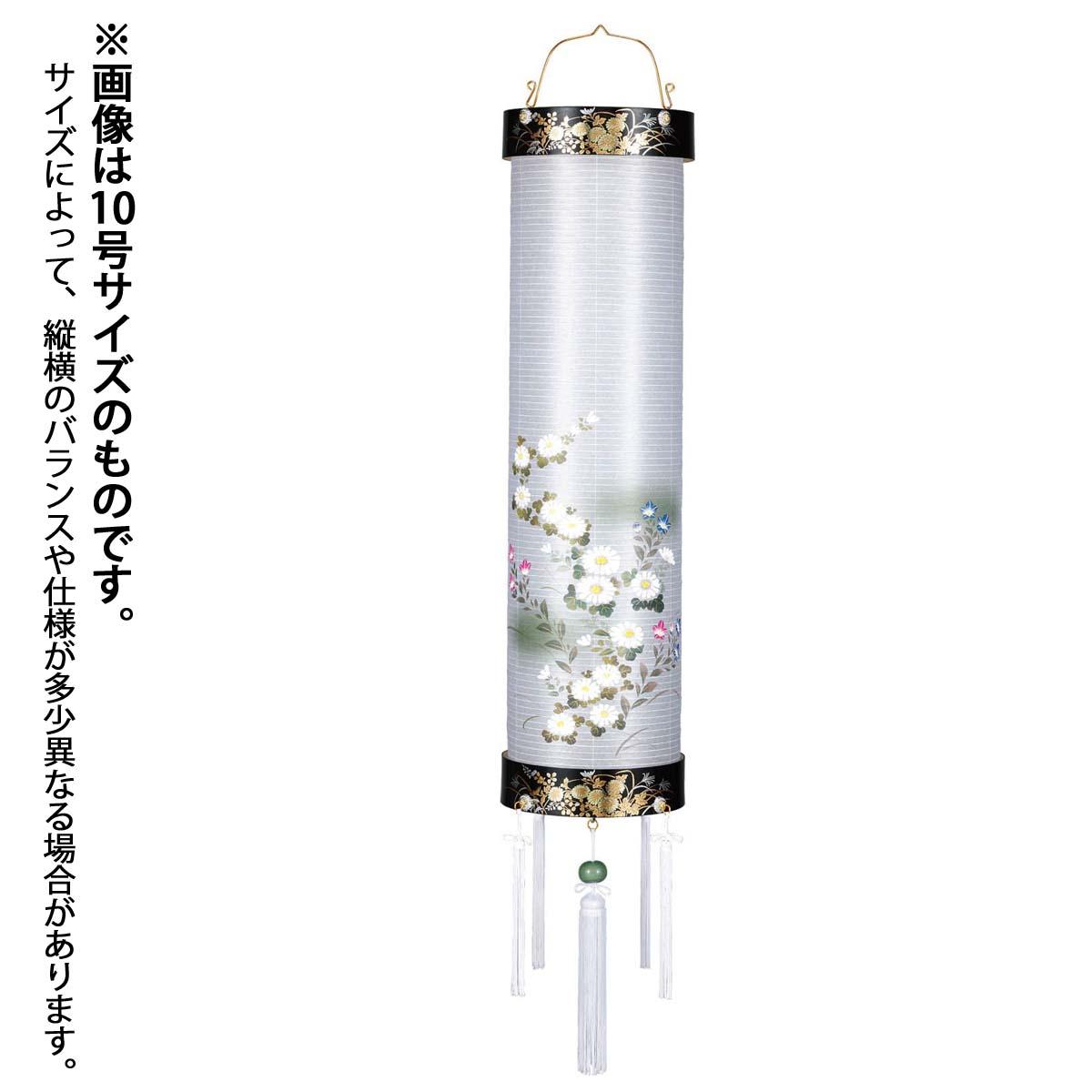 盆提灯 住吉 『 住吉 蒔絵 絵入 8号 』 BCG-825-3043木製 電気コード式 LED 筒型 円筒 吊り型 吊り下げ 吊り提灯