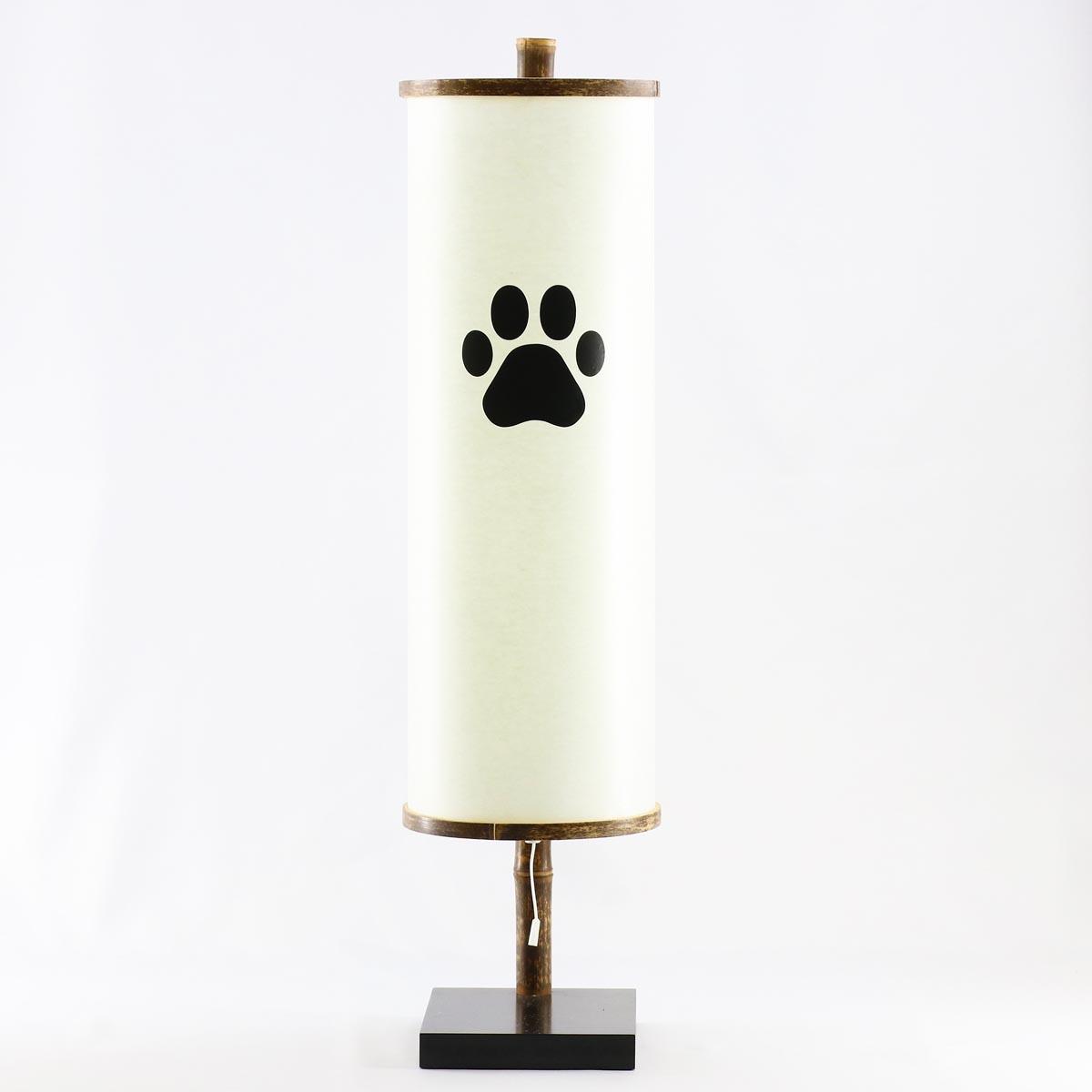 盆提灯 『 源氏A 肉球入り 』 BCG-8710-90-106P木製 組立不要 電気コード式 ペット用 犬 イヌ 猫 ネコ メモリアル
