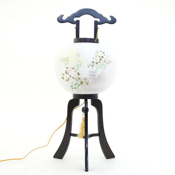 盆提灯 置き型提灯 行灯 『 マグネット式 ほのか 絹二重 11号 』 BCY-7606絹 二重 木製 電気コード式 簡単組立 磁石 マグネット式 置き型 置き提灯 行灯 行燈