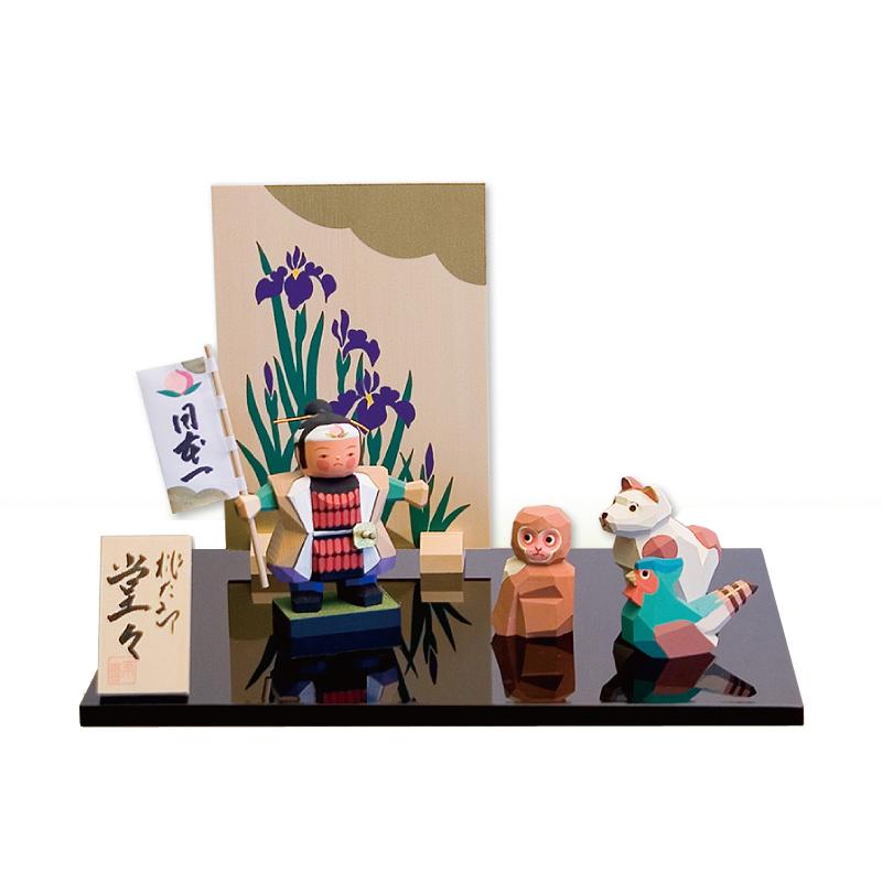 五月人形 南雲工房 伊予一刀彫 桃太郎 堂々 ≪GONK-513≫おしゃれ 一刀彫 五月人形 木製
