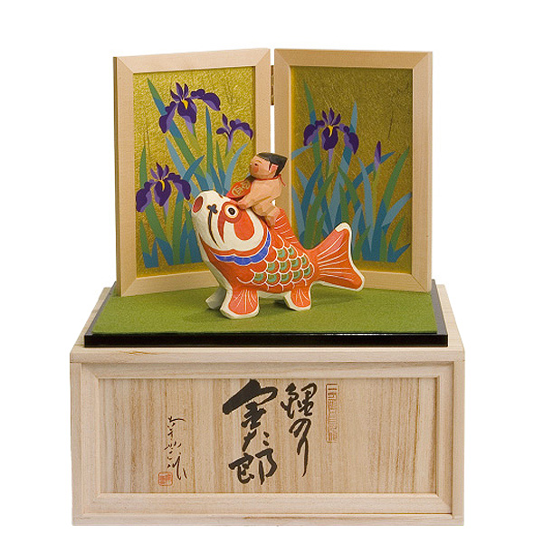 五月人形 南雲工房 伊予一刀彫 鯉のり金太郎 GONK-526コンパクト おしゃれ 伊予一刀彫 5月人形 端午の節句