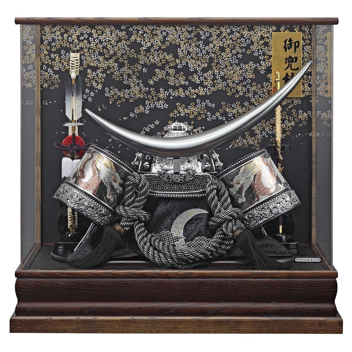 五月人形 藤翁 着用兜ケース飾り 着用兜飾り 伊達政宗 (BR) アクリルケース ≪GOFO-155-751≫おしゃれ 着用兜ケース飾り 伊達政宗 アクリルケース飾り着用 兜 ケース飾り 五月人形 [P20]