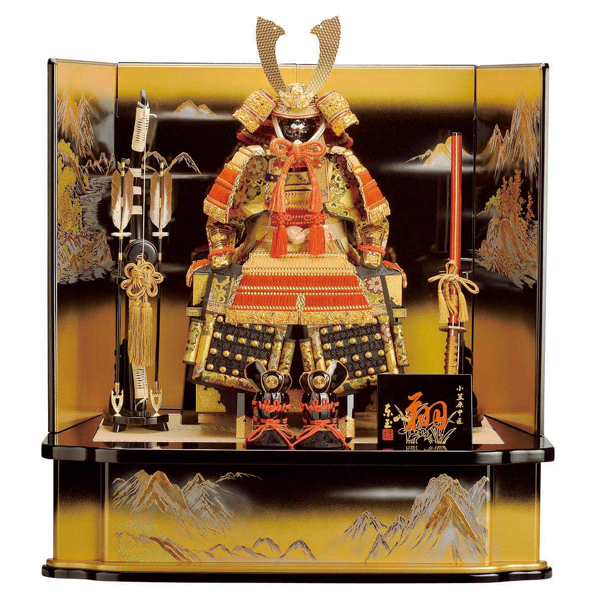 五月人形 東玉 鎧飾り 神将II 12号 ≪GOTG-53907≫ 鎧平飾りおしゃれ 鎧飾り 鎧 五月人形 [P10]