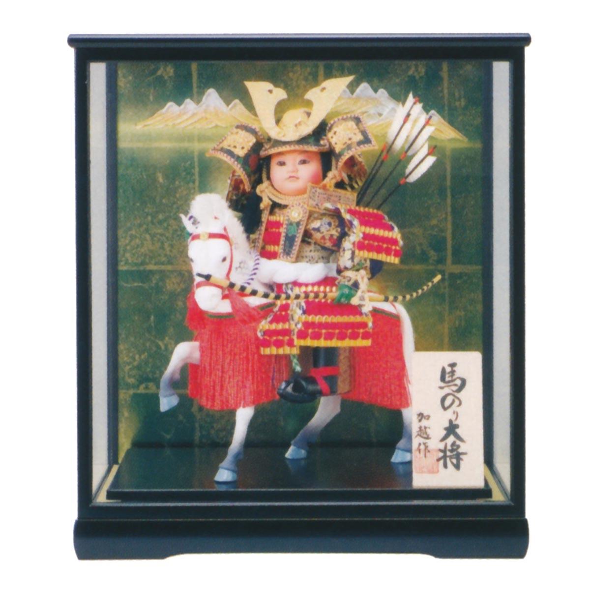 五月人形 ケース飾り 馬乗大将 6号 ≪GOF-5740-78-002≫コンパクト おしゃれ ケース飾り ケース飾り 五月人形
