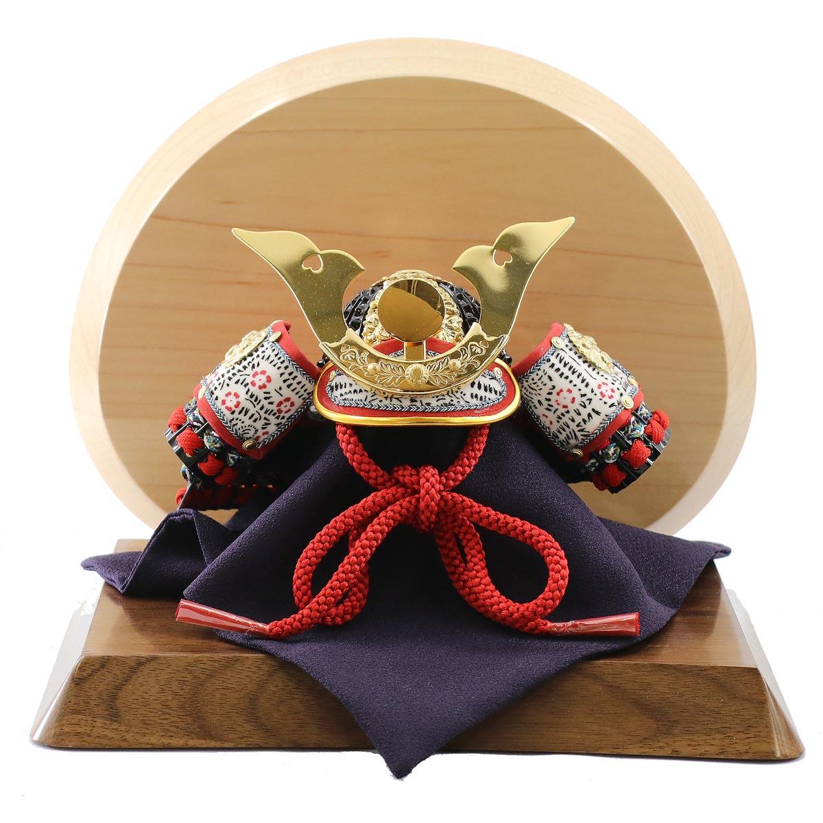 五月人形 吉徳 兜飾り 兜飾り 豆 大鍬形 高級木材使用飾り台・衝立 吉徳 ≪GOY-114-672-WN-S≫コンパクト おしゃれ 兜飾り 兜 五月人形