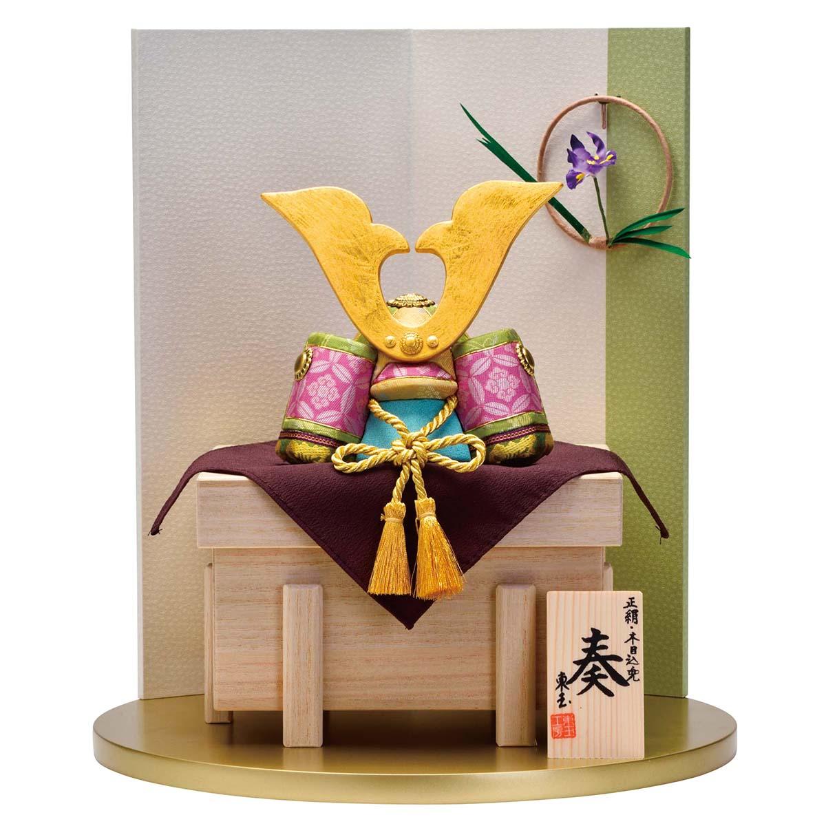 五月人形 東玉 木目込み飾り 奏・緑音-ryokuon- GOTG-5コンパクト おしゃれ 木目込み飾り 5月人形 端午の節句 [P10]