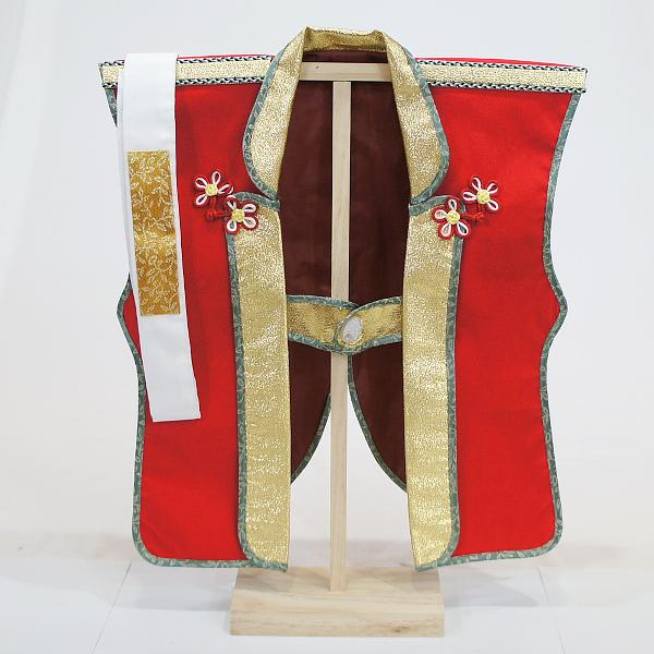 陣羽織 赤 (はちまき・木製スタンド付き)【五月人形・こいのぼり】陣羽織を着て記念撮影♪
