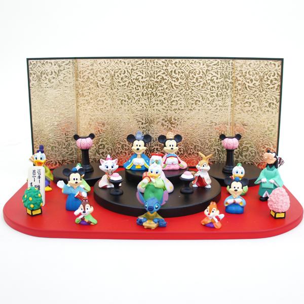 雛人形 吉徳 コンパクト キャラ雛 ディズニー ミッキー アイコン台段飾り 十五人飾り 雛人形 HNY-183-069 (183069)ひな人形 かわいい 雛 ひな人形 小さい ミニ