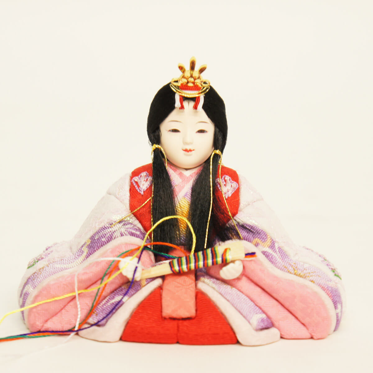 "Chicks Dim doll h., ""1 month made head sugita Ming ten Zhi original 木目込 Arai Hisao Maki chicks Prince ornament embroidery' «HNQ-68165» Dim h. Moon dolls chicks doll h.-[P10]"
