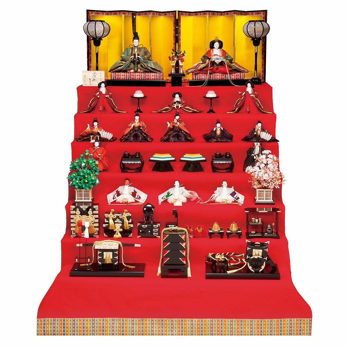 段飾り 雛人形 七 七段飾りの雛人形 十五人豪華フルセット