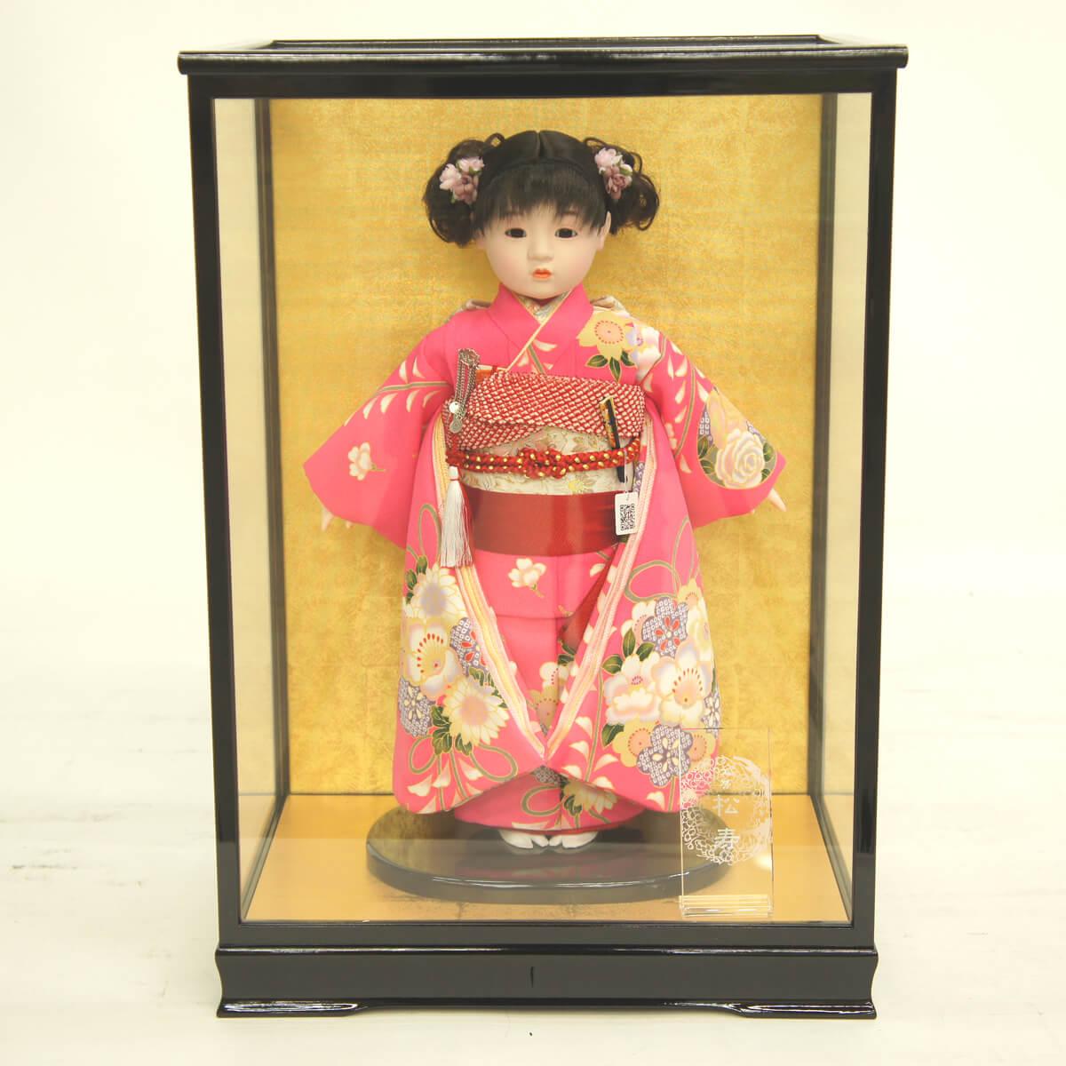 雛人形 松寿 コンパクト 市松人形 松寿作 市松人形 ケース入り (HB9) 市松 ICMY-BA26012-41G-C (HB9)ひな人形 かわいい おしゃれ インテリア ひな人形 小さい ミニ
