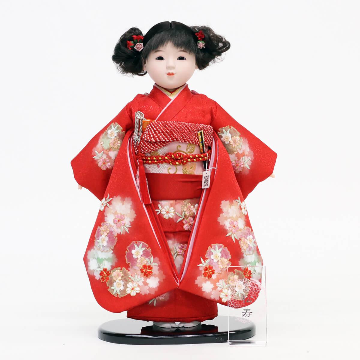 雛人形 松寿 市松人形 松寿作 市松人形 切嵌京刺繍 市松 ICMY-BC12-43ひな人形 かわいい おしゃれ インテリア