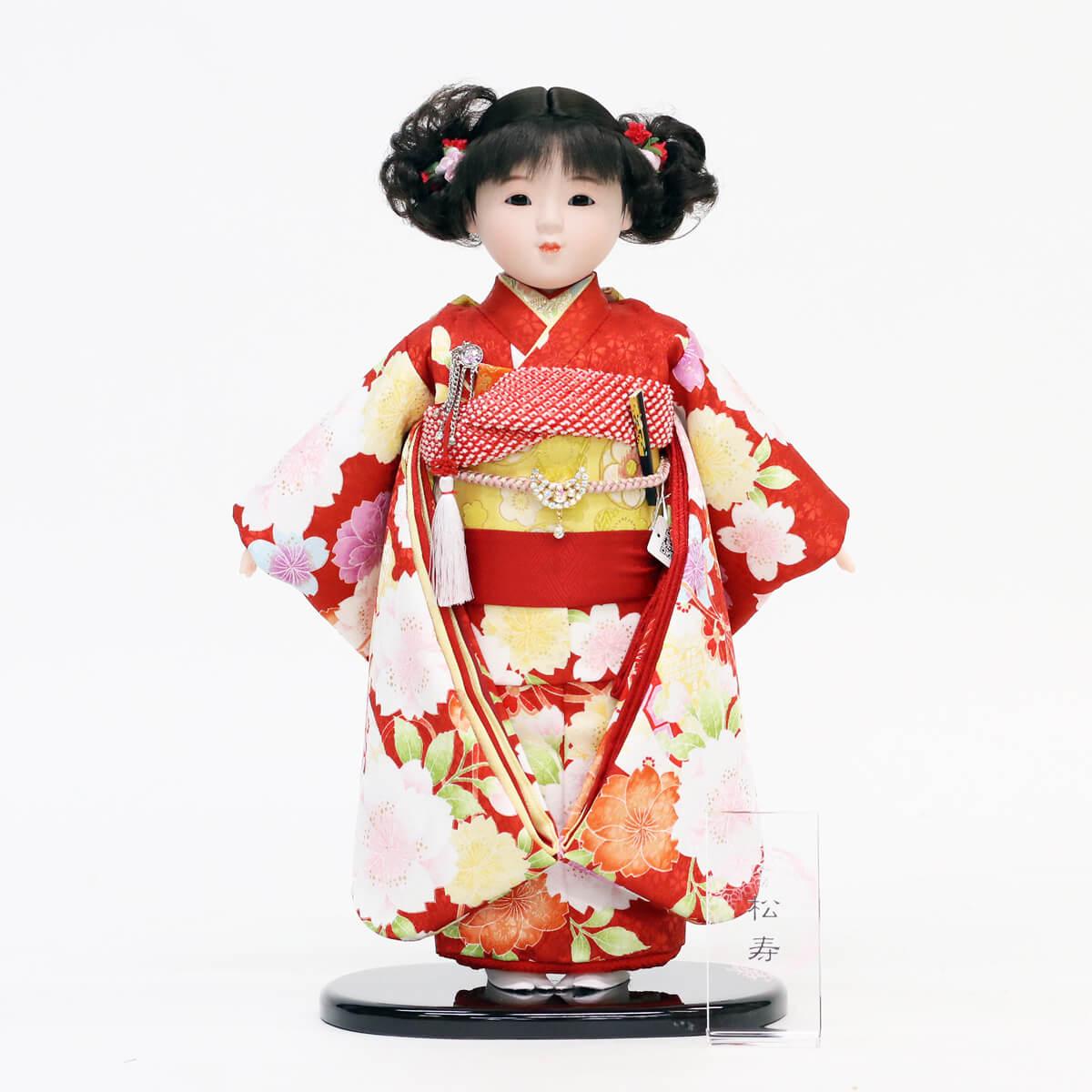 雛人形 松寿 市松人形 松寿作 市松人形 京友禅 桜 鞠 市松 ICMY-BC26017-48Gひな人形 かわいい おしゃれ インテリア