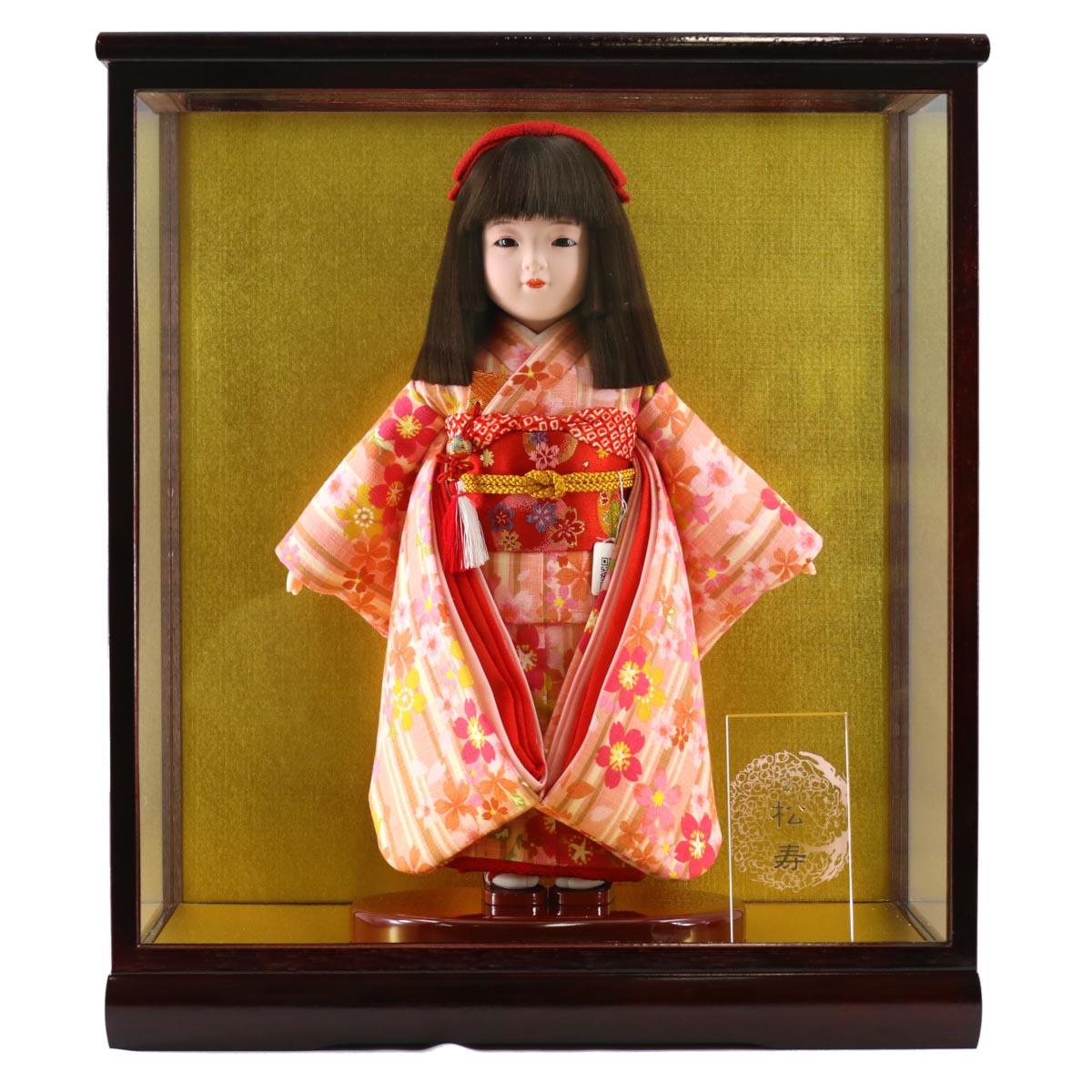 雛人形 松寿 コンパクト 市松人形 松寿作 市松人形 特選友禅 ケース入り (HB40) 市松 ICMY-EH86005-23G-C (HB40)ひな人形 かわいい おしゃれ インテリア ひな人形 小さい ミニ