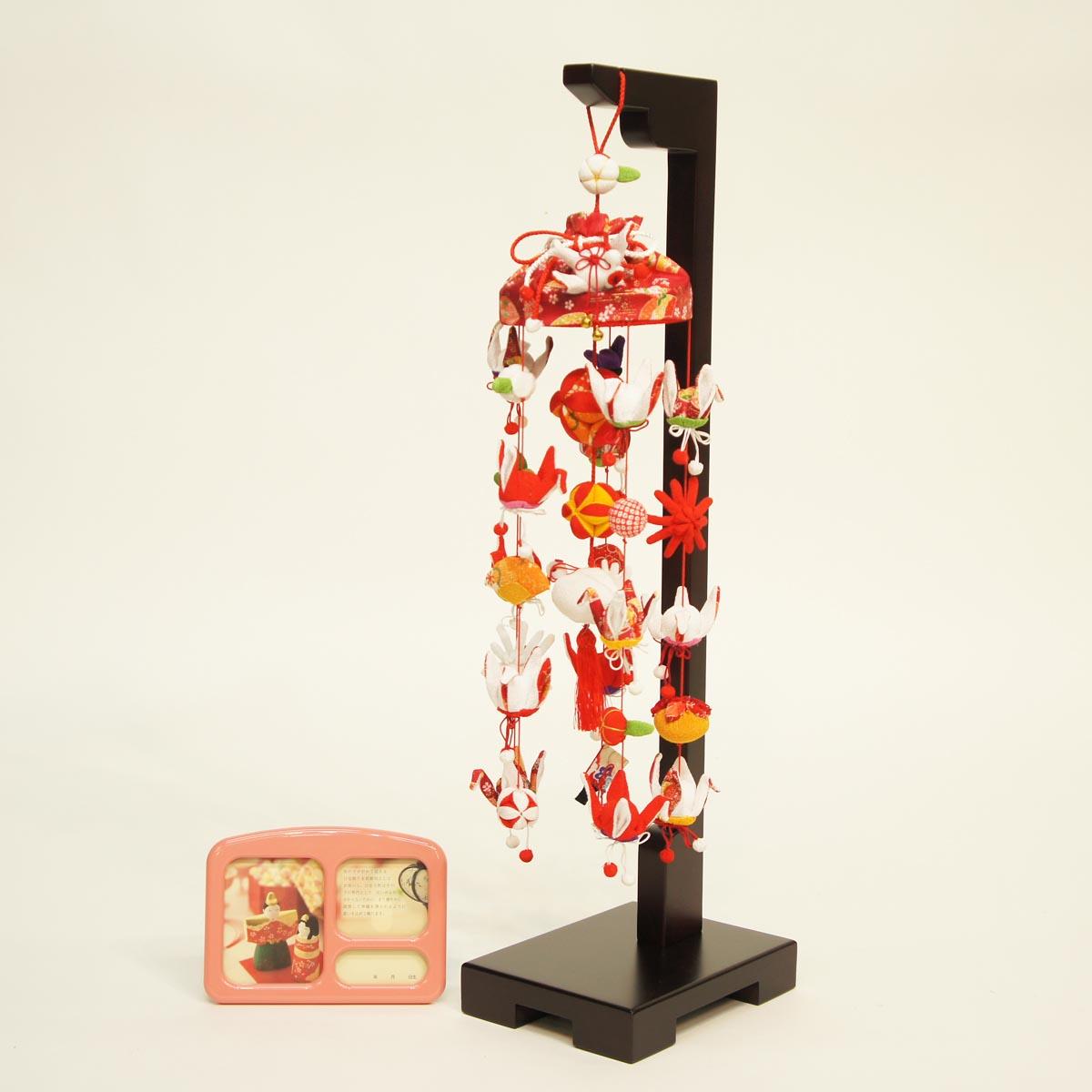 祝鶴 (小) スタンド付き オルゴール付き TRS-BK-SB-E002S送料無料 ※北海道 沖縄は除く つるし雛 吊るし飾り で 桃の節句 雛祭り ひな祭り 雛人形 のお祝いに