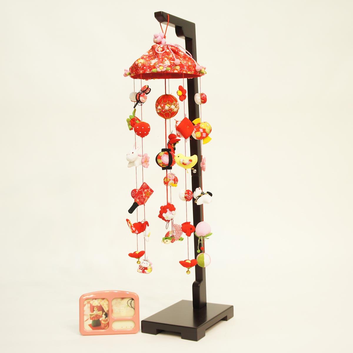 ひなもも (中) スタンド付き オルゴール付き TRS-BK-SB-G001S送料無料 ※北海道 沖縄は除く つるし雛 吊るし飾り で 桃の節句 雛祭り ひな祭り 雛人形 のお祝いに