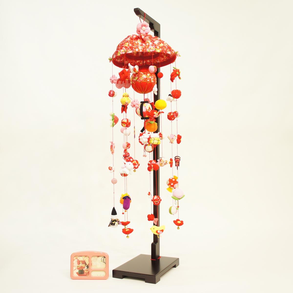 ひなもも (大) スタンド付き オルゴール付き TRS-BK-SB-G501S送料無料 ※北海道 沖縄は除く つるし雛 吊るし飾り で 桃の節句 雛祭り ひな祭り 雛人形 のお祝いに