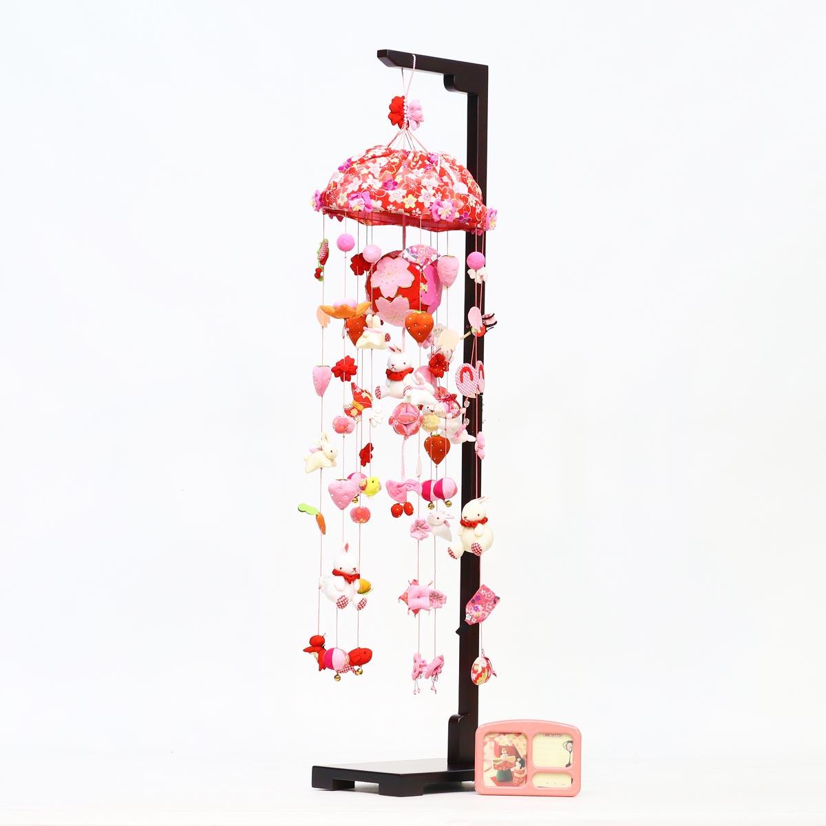 桜うさぎ (大) スタンド付き オルゴール付き TRS-BK-SB-R501S送料無料 ※北海道 沖縄は除く つるし雛 吊るし飾り で 桃の節句 雛祭り ひな祭り 雛人形 のお祝いに