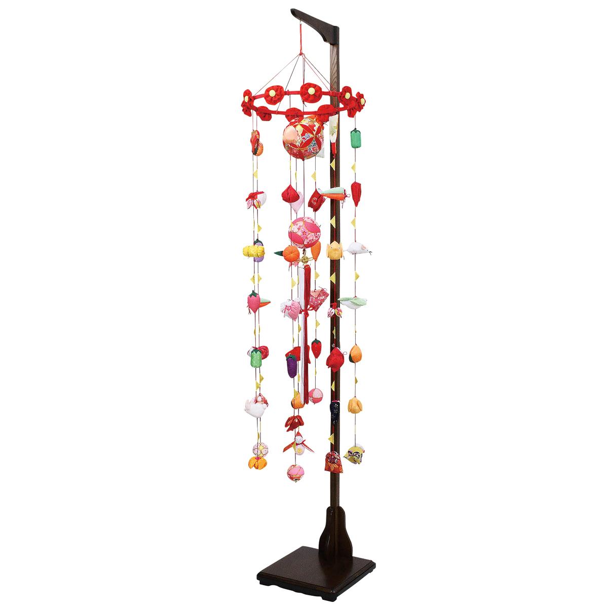 つるし雛 吊るし飾り まり飾り 大 吊り台付き TRS-F-4C62-AA-522 [P20]