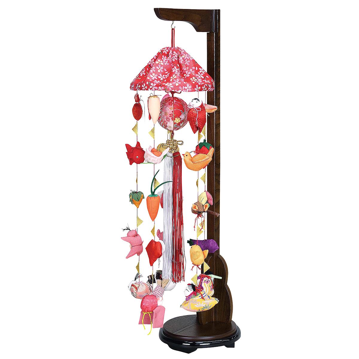 まり飾り 特小 傘付き 吊り台付き TRS-F-4D62-AA-521送料無料 ※北海道 沖縄は除く つるし雛 吊るし飾り で 桃の節句 雛祭り ひな祭り 雛人形 のお祝いに