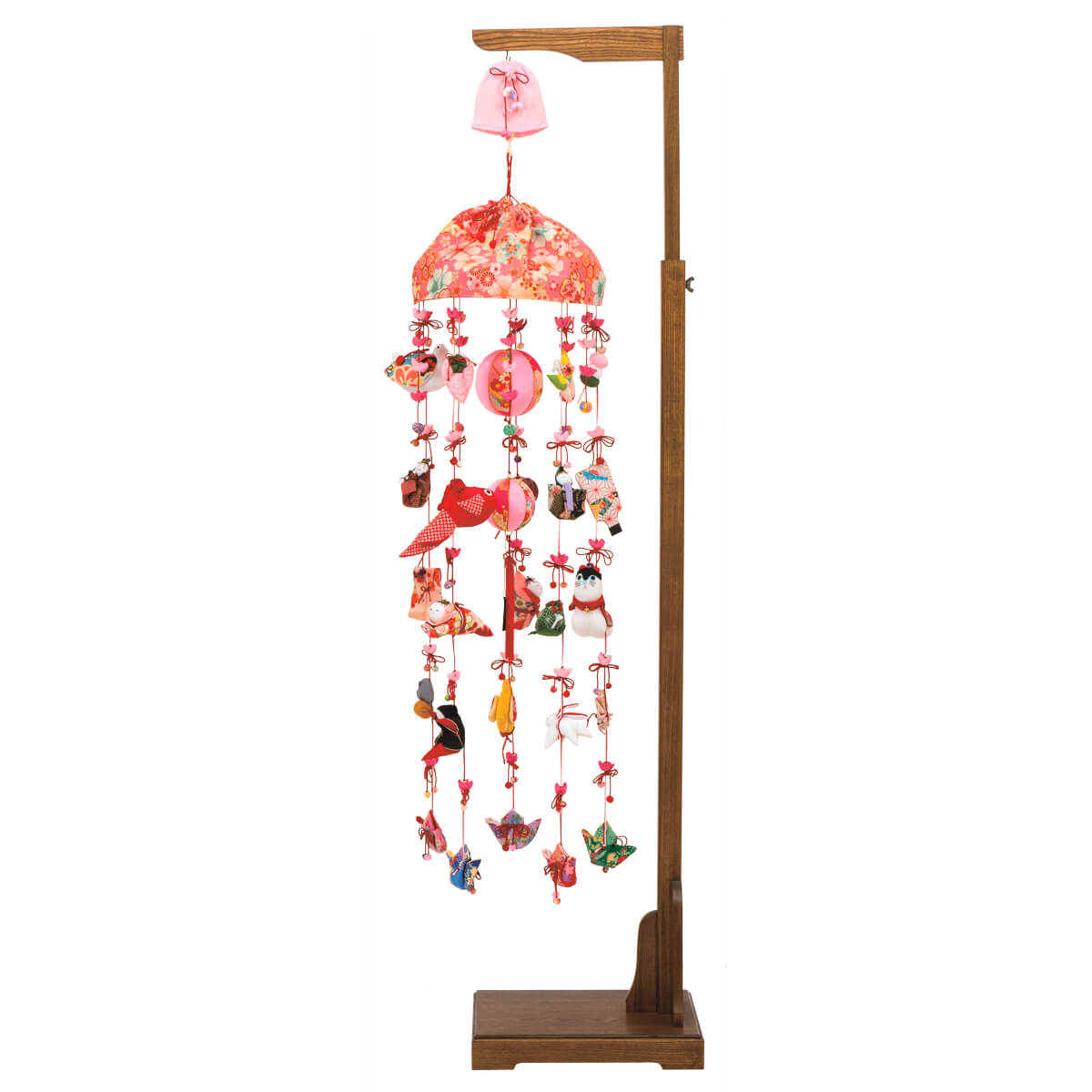 花音/響オルゴール付 伸縮スタンド付 TRS-H-332368送料無料 ※北海道 沖縄は除く つるし雛 吊るし飾り で 桃の節句 雛祭り ひな祭り 雛人形 のお祝いに