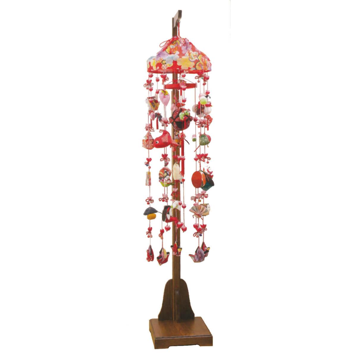 花夢 伸縮式スタンド付 TRS-H-332388送料無料 ※北海道 沖縄は除く つるし雛 吊るし飾り で 桃の節句 雛祭り ひな祭り 雛人形 のお祝いに
